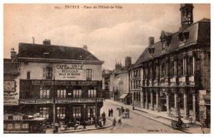 France  Troyes  Place de I'Hotel de Ville