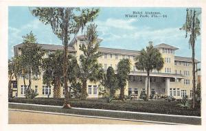 A82/ Winter Park Florida Fl Postcard c1915 Hotel Alabama Building