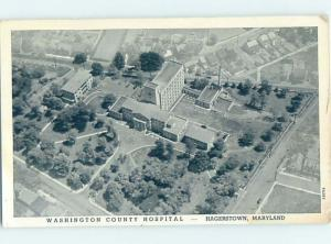 Pre-1952 HOSPITAL SCENE Hagerstown Maryland MD W3346