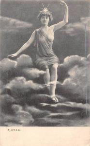Glamour Dame Lady in clouds, A Star, Hungary, photographic pictures, Art