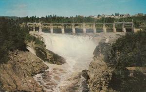 GRAND FALLS, New Brunswick , Canada , 1960 ;  Power Dam and Falls