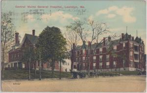 LEWISTON Maine - CENTRAL MAINE GENERAL HOSPITAL 1910s / Opened 1888