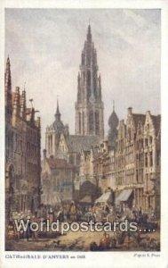 Cathedral D'Anvers Belgium Unused