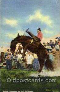 Buddy Timmons on Jack Dempsey, Western Cowboy Cowgirl Postcard Postcards  Bud...