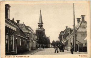 CPA Groeten uit APPINGEDAM Wijkstraat NETHERLANDS (706209)