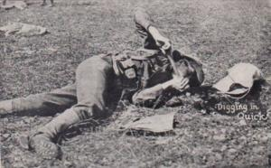 Military Soldier Digging In Quick