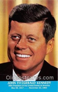 John Fitzgerald Kennedy, 35th President May 29, 1917-Nov 22, 1963 Unused