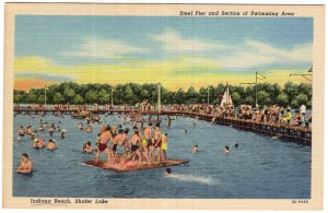 Steel Pier and Section of Swimming Area, Indiana Beach, Shafer Lake