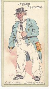 Cigarette Cards Players Characters From Dickens No 25 Capt. Cuttle