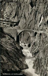 Switzerland Teufelsbrücke mit Schöllenen 02.75