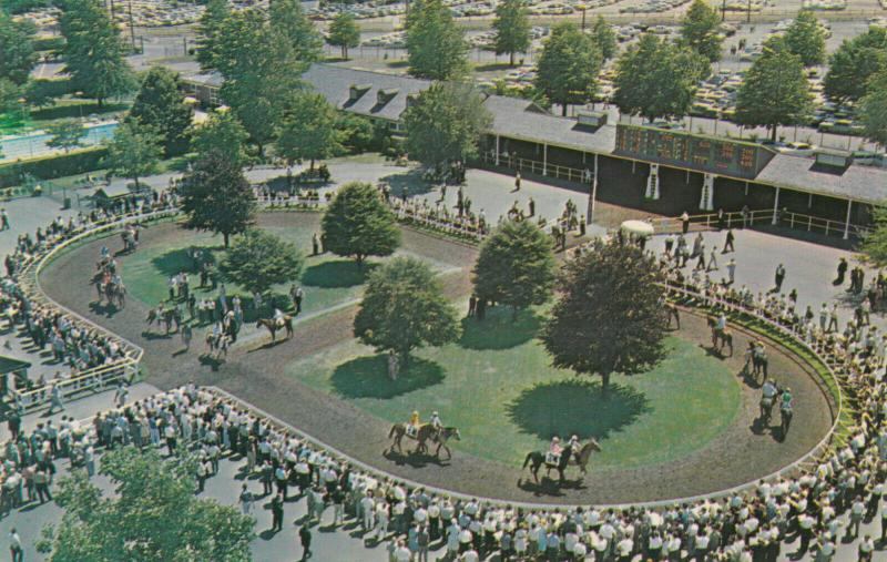 OCEANPORT, New Jersey,40-60s;  Monmouth Park, Horse Racing, English Walking Ring