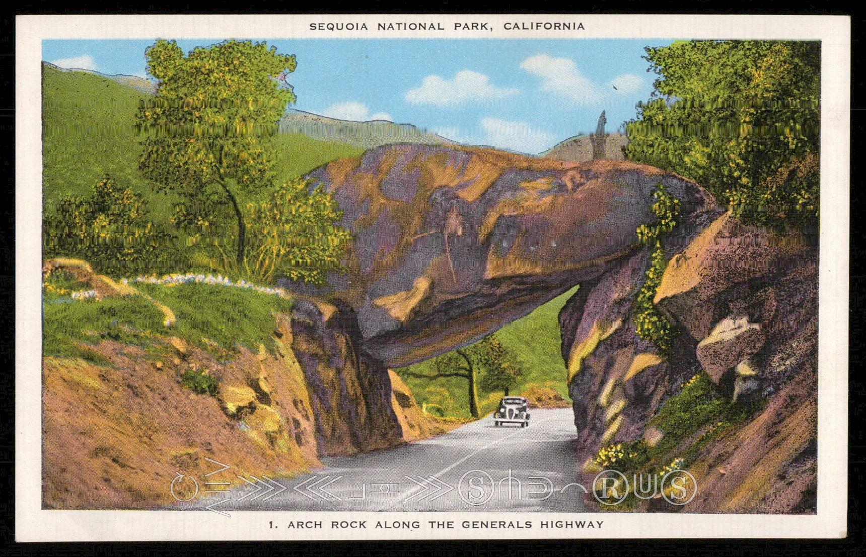 Arch Rock Along The Generals Highway - Sequoia National Park