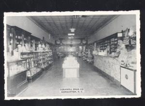 MORGANTON NORTH CAROLINA CORNWELL DRUG STORE INTERIOR VINTAGE POSTCARD NC