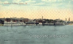 Steamboat Landing, Quincy, Illinois, USA Ferry Boats, Ship 1917