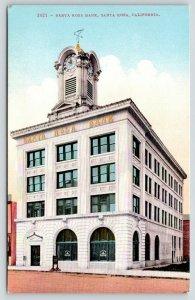 Santa Rosa California~Santa Rosa Bank~Sign on Sidewalk~c1910 Postcard