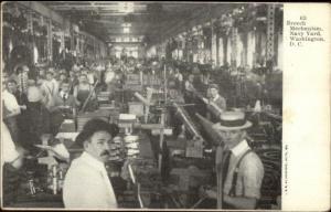 Washington DC Navy Yard Breech Mechanism c1905 Postcard