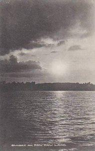 Michigan Paw Paw Lake Sunset Albertype