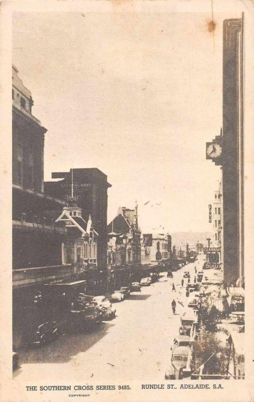 Adelaide Australia business district Rundle Street antique pc Z41468