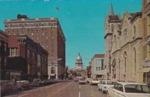Illinois Springfield Capitol Avenue Street Scene