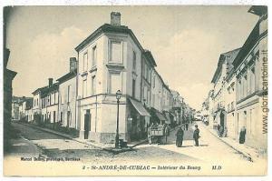 VINTAGE POSTCARD FRANCE - GIRONDE Saint-André-de-Cubzac