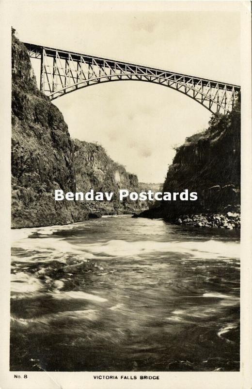 rhodesia, VICTORIA FALLS, The Bridge (1942) RPPC