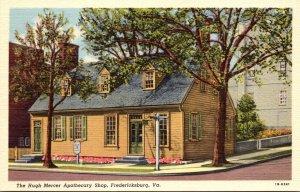 Virginia Fredericksburg The Hugh Mercer Apothecary Shop Curteich
