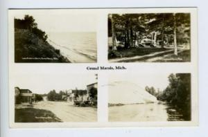 Grand Marais MI 4 Views Street View RPPC Real Photo Postcard