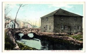 Early 1900s Bridge at Head of River, New Bedford, MA Postcard