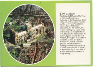 York Minster, from the air, unused Postcard