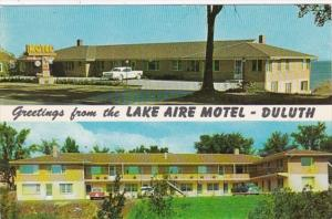 Minnesota Duluth Greetings From The Lake Aire Motel