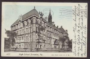 High School Scranton,PA Postcard