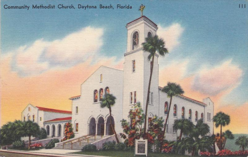 Daytona Beach Florida 1930 1940 S Community Methodist Church