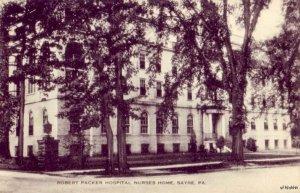 SAYRE, PA ROBERT PACKER HOSPITAL NURSES HOME publ by Artvue Post Card Co