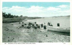 Cape Cod Massachusetts Digging Little Neck Clams West 1920s Postcard 21-4951