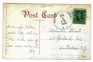 Sacandaga Park to Amsterdam, New York used 1908 Postcard, High Rock