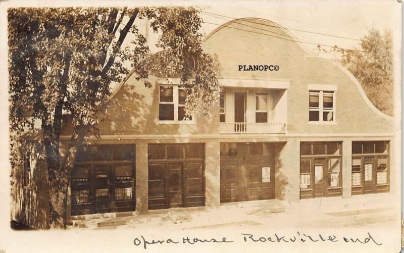 ROCKVILLE, INDIANA OPERA HOUSE-1913 RPPC REAL PHOTO POSTCARD