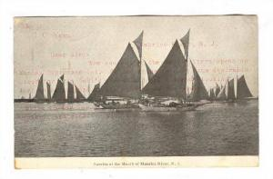 Sailboats, Sunrise at the Mouth of Maurice River , New Jersey , PU-1907