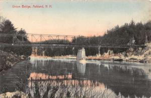 Ashland New Hampshire Union Bridge Waterfront Antique Postcard K93083