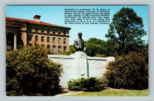 Madison WI, Monument Of W D Hoard, University Of WI, Chrome Wisconsin Postcard