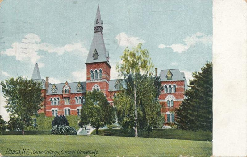 Cornell University - Sage College - Ithaca NY, New York - pm 1912 - DB