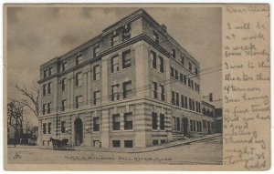 Fall River,  Massachusetts, Vintage Postcard View of The Y.M.C.A. Building, 1905