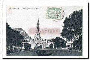Pyrenees Old Postcard Basilica of Lourdes