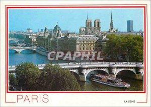Modern Postcard Paris Seine Ile de la cite concierge N D and the Sainte Chapelle