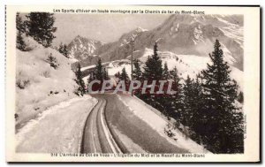 Old Postcard The d & # 39Hiver Mountain Sports For the Mont Blanc Railway L &...