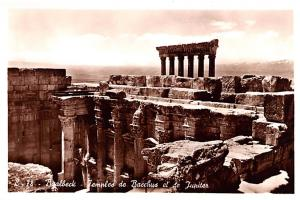 Baalbeck, Syria Postcard, Syrie Turquie, Postale, Universelle, Carte Temple d...