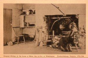 Virginia Fredericksburg Original Kitchen At The Home Of Mary Mother Of Washin...