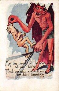 Cartoon Devil Krampus PU Unknown
