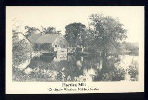Rochester, Massachusetts/MA/Mass Postcard, Hartley Mill, Originally Winslow Mill
