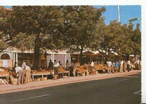 Kenya Postcard - African Wood Carving Stalls - Mombasa - Real Photo - Ref 20459A