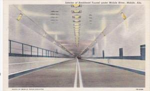 Alabama Mobile Interior Of Bankhead Tunnel Under Mobile River 1940 Curteich